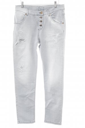 Brandalism Straight Leg Jeans light grey second hand look
