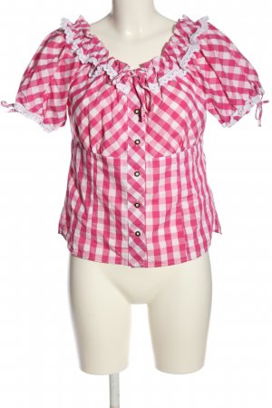 Brandl Tracht Traditional Shirt pink-white check pattern casual look