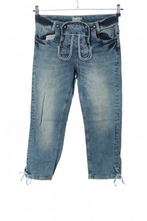 Brandl Tracht Traditional Trousers blue wet-look