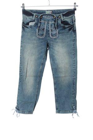 Brandl Tracht Folkloristische broek blauw wetlook