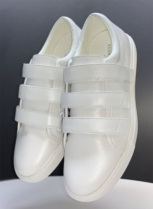 Kenneth Cole Hook-and-loop fastener Sneakers white leather