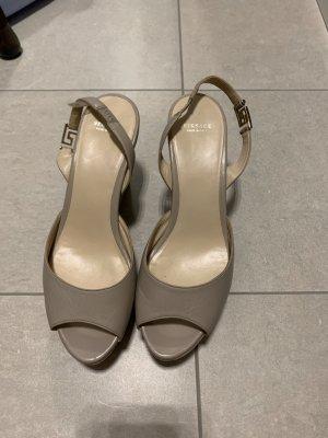 Versace Sandales à plateforme gris brun