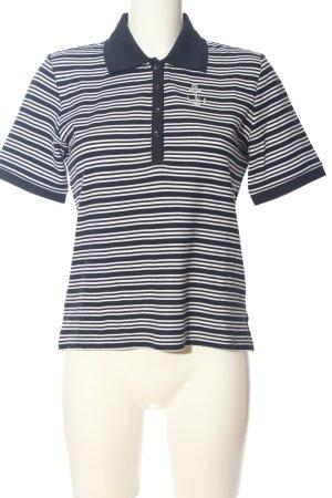 brandtex Polo noir-blanc motif rayé style décontracté