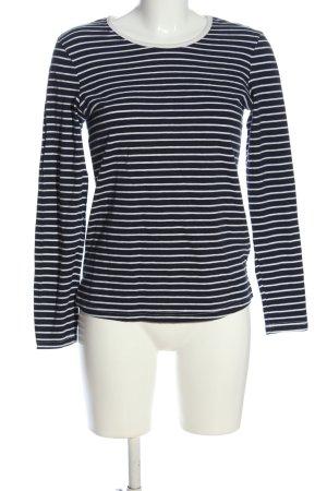 brandtex T-shirt rayé noir-blanc motif rayé style décontracté