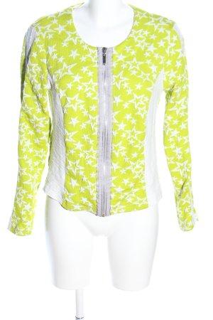 brandtex Chaqueta de tela de sudadera blanco-verde look casual