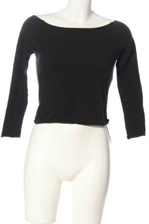Brandy & Melville Camicia cropped nero stile casual