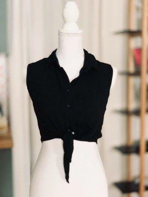 Brandy & Melville Kopertowa bluzka czarny Wiskoza