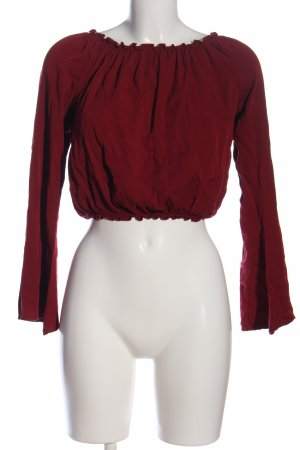 Brandy & Melville Carmen Blouse red casual look