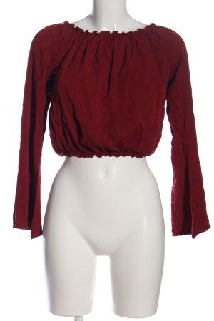 Brandy & Melville Carmen blouse rood casual uitstraling