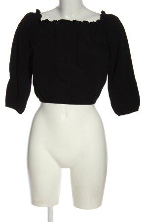 Brandy & Melville Carmen blouse zwart casual uitstraling