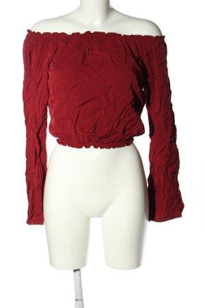 Brandy & Melville Carmen shirt rood casual uitstraling