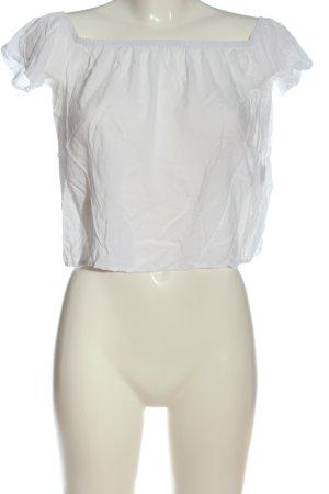 Brandy & Melville Koszula typu carmen biały W stylu casual