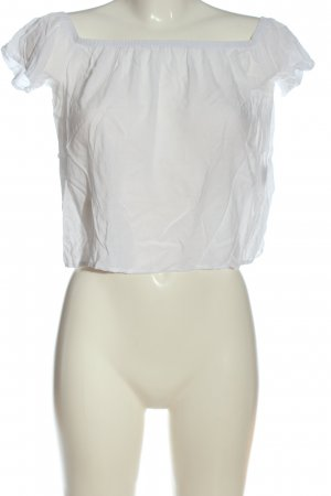 Brandy & Melville Camisa tipo Carmen blanco look casual