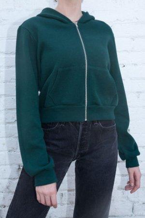 Brandy Melville crop Hoodie dunkelgrün