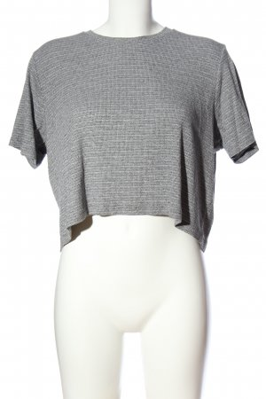 Brandy & Melville Cropped Shirt black-white flecked casual look