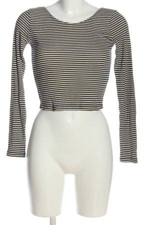 Brandy & Melville Cropped shirt zwart-wit gestreept patroon casual uitstraling