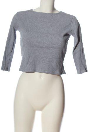 Brandy & Melville Cropped Shirt hellgrau meliert Casual-Look