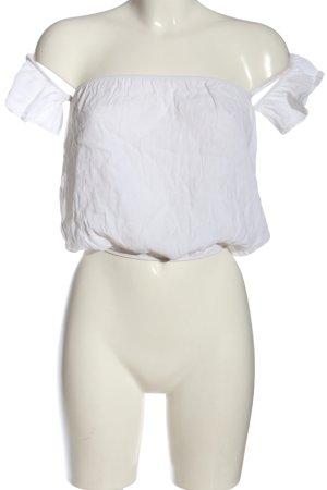 Brandy & Melville Kurzarm-Bluse weiß Casual-Look