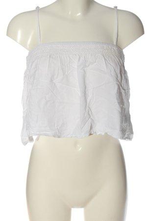 Brandy & Melville Top corto bianco stile casual