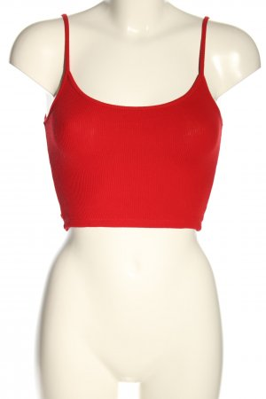 Brandy & Melville Cropped Top red striped pattern casual look