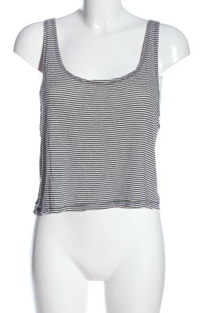 Brandy & Melville Cropped Top schwarz-weiß Allover-Druck Casual-Look