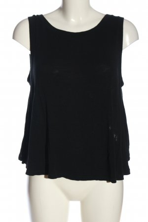 Brandy & Melville Cut-Out-Top schwarz Casual-Look