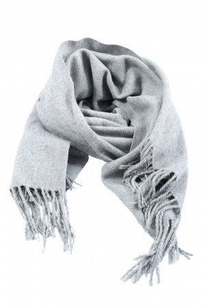 Brandy & Melville Fringed Scarf light grey casual look