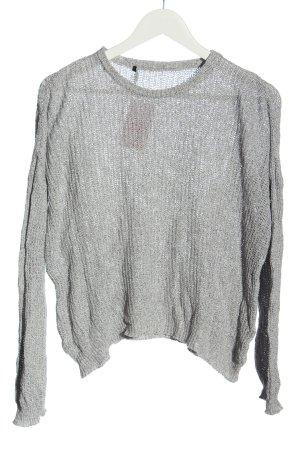 Brandy & Melville Szydełkowany sweter jasnoszary Melanżowy W stylu casual