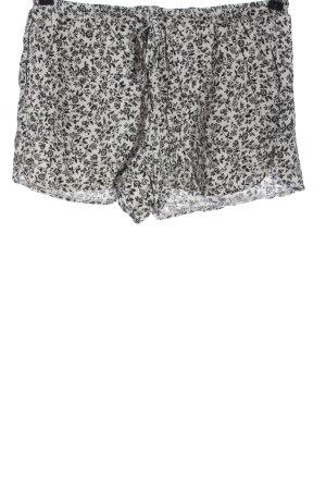 Brandy & Melville Hot pants lichtgrijs-zwart volledige print casual uitstraling
