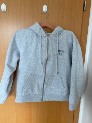 Brandy & Melville Hoody silver-colored-black