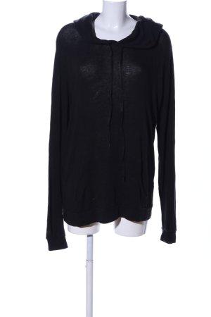 Brandy & Melville Pull à capuche noir style décontracté