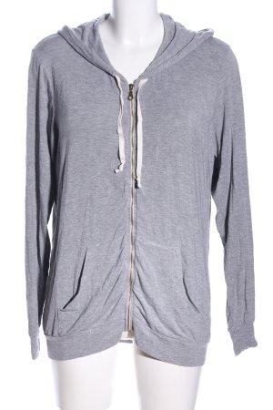 Brandy & Melville Kapuzensweatshirt hellgrau meliert schlichter Stil