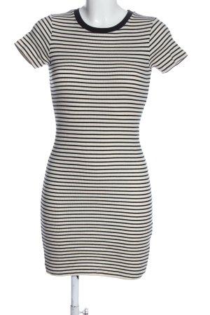 Brandy & Melville Kurzarmkleid weiß-schwarz Streifenmuster Casual-Look