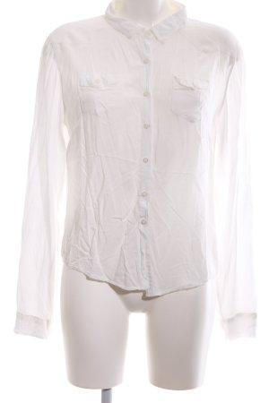 Brandy & Melville Langarm-Bluse weiß Casual-Look