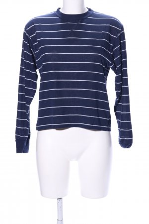 Brandy & Melville Longsleeve blau-weiß Streifenmuster Casual-Look