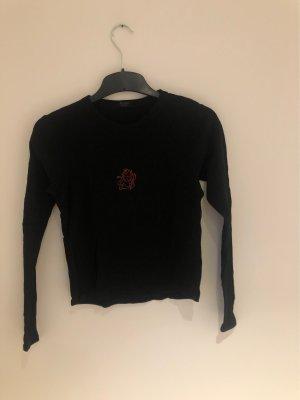 Brandy & Melville Netshirt zwart-donkerrood