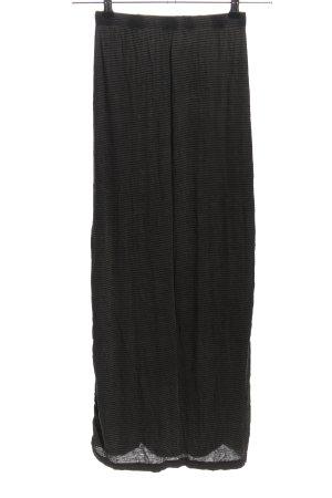 Brandy & Melville Maxi gonna grigio chiaro-nero stampa integrale stile casual