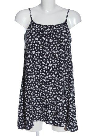 Brandy & Melville Mini Abito nero-bianco stampa integrale stile casual