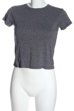 Brandy & Melville T-shirt court noir-blanc imprimé allover style décontracté