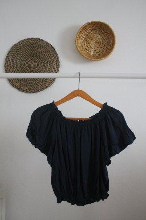 Brandy & Melville Cropped Shirt dark blue
