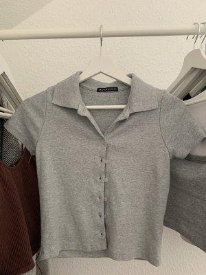 Brandy & Melville Polo shirt lichtgrijs