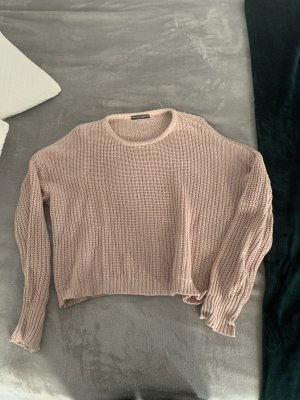 Brandy & Melville Pullover a maglia grossa rosa chiaro