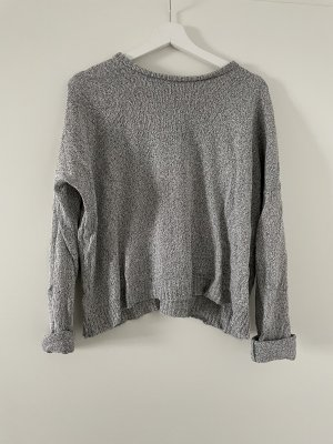 Brandy & Melville Maglione lavorato a maglia grigio chiaro
