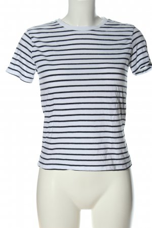 Brandy & Melville Stripe Shirt white-blue allover print casual look