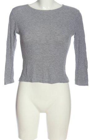 Brandy & Melville Ribbed Shirt light grey flecked casual look