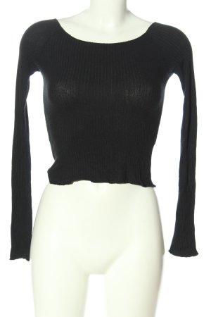 Brandy & Melville Camicia a coste nero stile casual