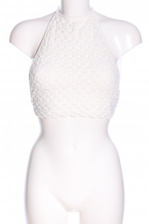 Brandy & Melville Backless Top natural white weave pattern elegant