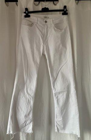 Brandy & Melville Pantalon pattes d'éléphant blanc coton