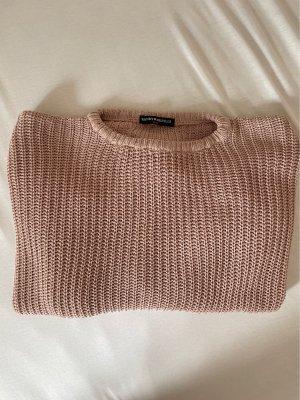 Brandy & Melville Maglione girocollo color oro rosa-rosa chiaro