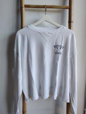 Brandy & Melville Koszulka z długim rękawem biały-czarny